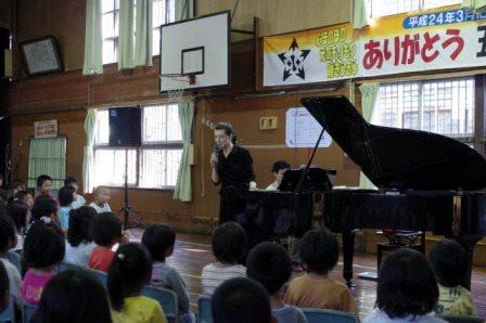 朝日町五箇庄小学校 出前コンサート